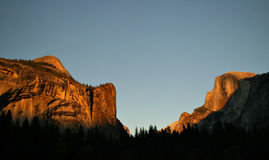 North Dome and Half Dome Royalty Free Stock Image