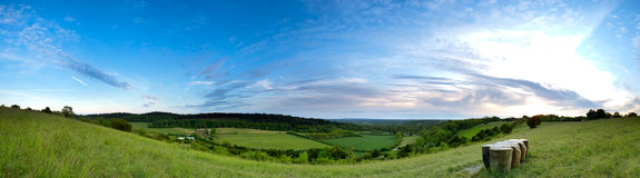 North Downs Panoramic Stock Image