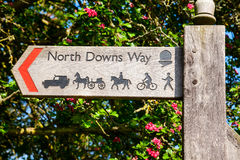 North Downs Way signpost Stock Image