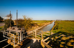 North Drain Sluice Gate Royalty Free Stock Images