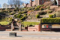 North Drive Steps Scarborough. Mum and child walking down steps Stock Photography