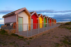 North east Coast beach huts Stock Image
