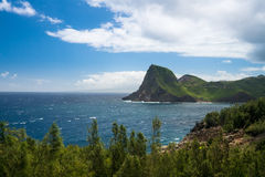 North east coastline of Maui from Kahekili highway Royalty Free Stock Photography
