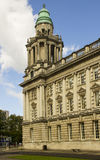The North East corner tower of the impressive Belfast City Hall in Belfast Northern Ireland Royalty Free Stock Photo