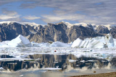 North-East Greenland Icebergs Stock Image