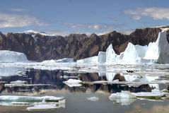 North-East Greenland Icebergs stock photos