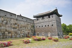 North-East GunTower of Suwon Hwaseong, called Bukdongporu Stock Image
