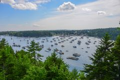 North East Harbor, Maine. Scenic view of Maine's North East Harbor royalty free stock images