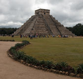 North and East sides of El Castillo Temple at Chichen Itza Mexico Royalty Free Stock Images