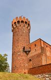 North-east tower of Schwetz castle (1350). Swiecie, Poland. North-east tower of Schwetz castle, the medieval Ordensburg fortress of Teutonic Order. Swiecie town Royalty Free Stock Photography
