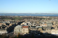 North Edinburgh from Castle, Edinburgh Skyline. Stock Photos