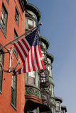 North End arkitektur i Boston, Massachusetts arkivfoton
