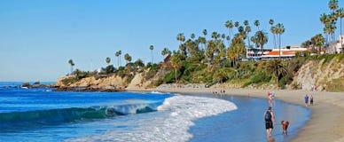 North end of Main Beach aand Heisler Park in Laguna Beach, CA Main stock image