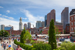 The North End Parks on the Rose Kennedy Greenway have reconnecte Stock Image