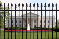 North Entrance. To the White House; view through the security fence Stock Photo