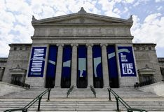 North Entrance Field Museum. This is a Summer picture of the North entrance of the Iconic Field Museum of Natural History located in Chicago, Illinois in Cook Royalty Free Stock Images