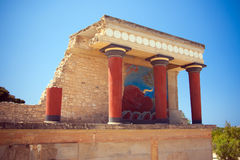 North Entrance of the Knossos Palace Stock Image