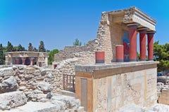 North entrance of Knossos palace, Crete, Greece Royalty Free Stock Photos