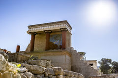 The North Entrance to the Knossos palace at Crete Royalty Free Stock Photo