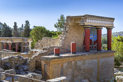 The North Entrance to the Knossos palace at Crete Stock Image