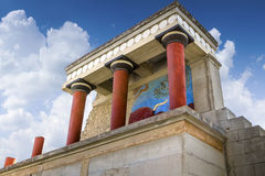 The North Entrance to the Knossos palace at Crete Stock Photo