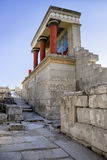 The North Entrance to the Knossos palace at Crete Royalty Free Stock Images