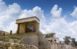 The North Entrance to the Knossos palace at Crete Royalty Free Stock Photos