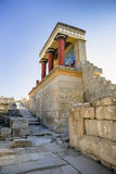 The North Entrance to the Knossos palace at Crete Stock Photography