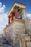 The North Entrance to the Knossos palace at Crete Stock Photos