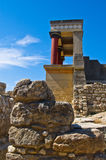North entrance to Knossos palace, island of Crete Stock Photo