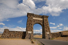 North Entrance to Yellowstone. Yellowstone National Park. North Entrance stock photo