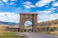 North Entrance to Yellowstone National Park Stock Photo