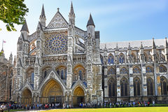 North entrance of Westminster Abbey in London stock photo