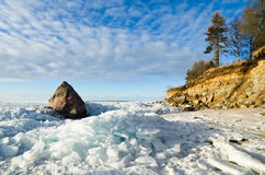 North Estonian limestone shore Stock Photos