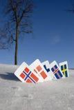 North Europe country symbols Stock Image