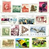 North europe old stamps Stock Photos
