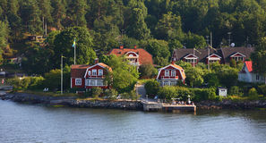 North europe small town Royalty Free Stock Photo