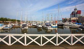 North europe wharf Royalty Free Stock Image