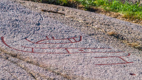 North European Petroglyph Royalty Free Stock Images