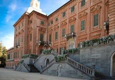 North facade of Racconigi castle. North side of Racconigi palace near Turin, Italy Stock Photo