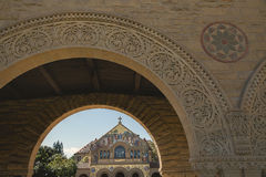 North Facade of Stanford Memorial Church, Stanford University Campus Royalty Free Stock Image