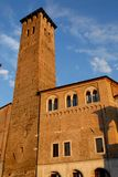 North facade of the tower and part of the Town Hall in Padua Royalty Free Stock Photo