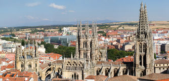 The North Face of Burgos Gothic Cathedral. Spain Stock Image
