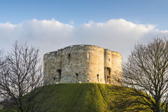 Cliffords Tower. North face of Clifford's Tower, in York, UK. The tower is part of the York castle Stock Images