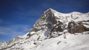 North face Eiger, Switzerland. Snow covered Mountains in Switzerland during winter Royalty Free Stock Photo