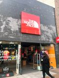THE NORTH FACE store, london royalty free stock photo