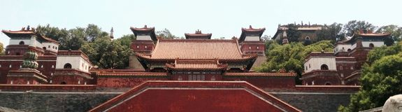 North face of the Longevity Hill, Beijing, China Stock Image