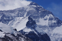 North face Mount Everest. North face of Mount Everest from Mt Everest Base Camp, Tibet, China.It was shot by myself in 2016 stock photography