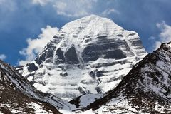 North Face of Mount Kailash, Tibet Royalty Free Stock Photos
