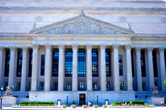 North Face of the National Archives. Columns and reliefs decorate the north face of the National Archives building in Washington DC stock photos